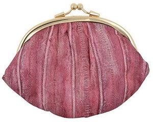 Marshal Clothing, Shoes & Accessories Cherry NEW WATERPROOF EEL SKIN LARGE DOUBLE COIN CHANGE PURSE WALLET
