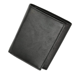 Marshal Clothing, Shoes & Accessories Genuine Leather Trifold Badge Holder Wallet Black, Police Badge Holder 2519 TA (C)