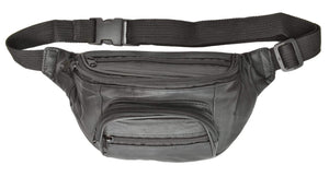 Genuine Leather Waist bag Fanny Pack for Travel Hiking 202 (C) - wallets for men's at mens wallet