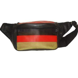 German Flag Design Genuine Leather Fanny Pack - Waist Pouch for Men & Women 967 (C) - wallets for men's at mens wallet