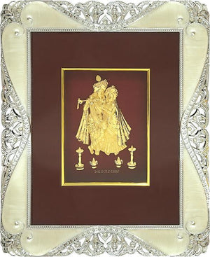 "Marshal Clothing, Shoes & Accessories Gold Leaf Picture in Frames Krishna and Radha 12""x10"""