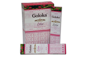 New Goloka Lotus Incense Sticks - 15gms (12 Packs) - menswallet