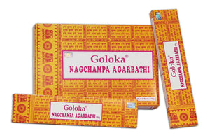 New Goloka Nag Champa Incense Sticks (16 grms) - 12 Boxes - menswallet