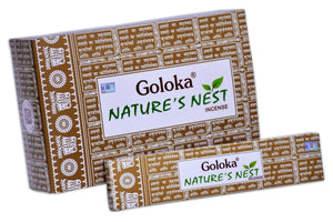 New Goloka Nature's Nest Incense Sticks-15grams(12packs) - menswallet