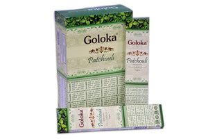 New Goloka Patchouli Incense Sticks - 15gms (12 Packs) by Goloka - menswallet