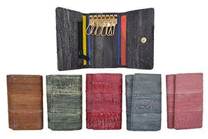 Marshal Clothing, Shoes & Accessories Gray New Waterproof Eel Skin Leather Key Case Holder Credit Card Wallet