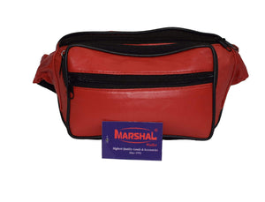 Marshal Clothing, Shoes & Accessories Navy Blue Genuine Leather Waist Fanny Pack Belt Bag Pouch Travel Hip Purse Men Women Many Colors 005C (C)