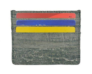 Waterproof Genuine Eel Skin Soft Leather Slim Thin Credit Card Holder Wallet - wallets for men's at mens wallet