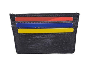 Marshal Clothing, Shoes & Accessories Green Waterproof Genuine Eel Skin Soft Leather Slim Thin Credit Card Holder Wallet