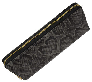 Marshal Clothing, Shoes & Accessories Grey New Ladies Snake Print Zip Around Womens Wallet 126-11876-6 (C)