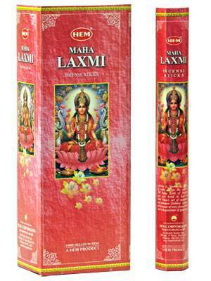Hem Maha Laxmi Incense (Box of 6 Tubes) - menswallet