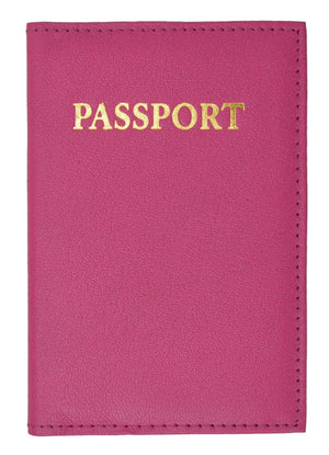 Marshal Clothing, Shoes & Accessories Black Genuine Leather Gold Logo Passport Cover Holder for Travel  151 CF (C)