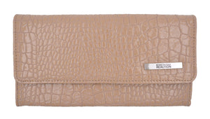 Kenneth Cole Reaction Women's Croco Print Tri-fold Snap Clutch Wallet - wallets for men's at mens wallet