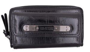 Kenneth Cole Unlisted Black Urban Organizer Wallet W/ Large Logo - wallets for men's at mens wallet