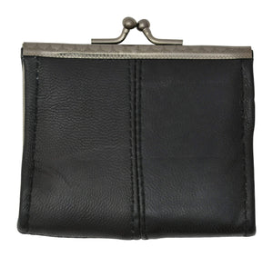 Ladies Black Small Change Coin Purse With Twist Snap Closure - wallets for men's at mens wallet