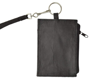 Marshal Clothing, Shoes & Accessories LEATHER ID CARD Badge Holder Neck Pouch Ring Wallet with strap 761 R (C)