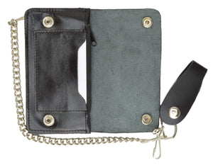 Medium Genuine Leather Trucker Chain Wallet 746SM (C) - wallets for men's at mens wallet