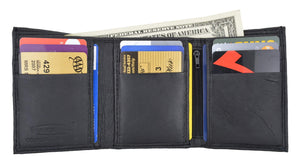 Marshal Clothing, Shoes & Accessories Men's Genuine Leather Trifold Credit Card Money Holder Wallet W/Outside ID Window by Swiss Marshal SM-P1355