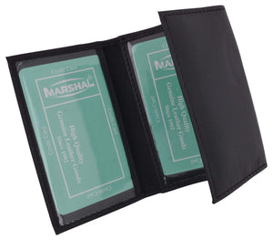 Marshal Clothing, Shoes & Accessories Men's Genuine Soft Leather Multiple ID Windows Slim Trifold Holder