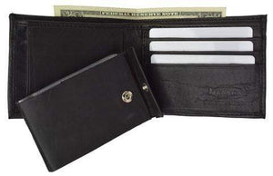 Men's premium genuine leather credit card ID bifold wallet P1154 - wallets for men's at mens wallet