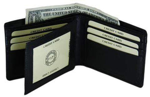 Men's Premium Leather Quality ID Credit card Wallet - wallets for men's at mens wallet