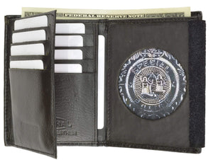 Mens Leather Wallet Badge ID Holder 2515 TA (C) - wallets for men's at mens wallet