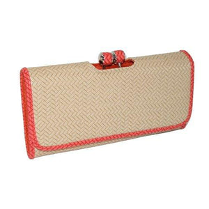 Mundi Brianne Clutch in Faux Woven Finish - wallets for men's at mens wallet