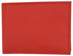 Marshal Clothing, Shoes & Accessories New Red Slim Compact Kids Nylon Bifold Boys Wallet with Coin Pouch