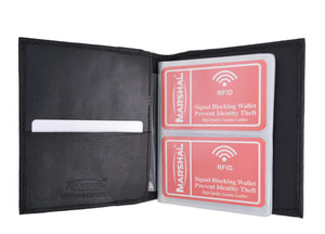 Marshal Clothing, Shoes & Accessories New RFID Blocking Soft Genuine Leather Multi Credit Card Holder Wallet RFIDP2570
