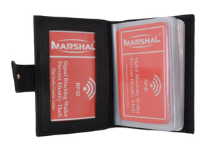 Marshal Clothing, Shoes & Accessories Premium Soft Leather RFID Blocking Credit Card ID Holder with Snap Closure  RFIDP570