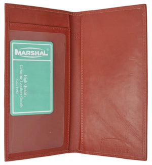 Marshal Clothing, Shoes & Accessories Red Brand New Hand Crafted Premium Soft Leather Simple Checkbook Cover P156