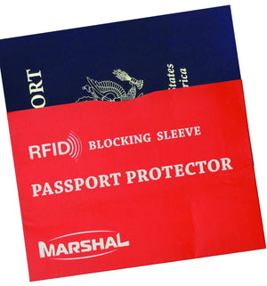 Marshal Clothing, Shoes & Accessories Red RFID Passport Sleeve VS TB13001P (C)