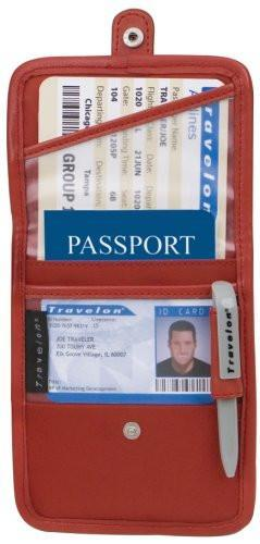 marshal Clothing, Shoes & Accessories Red Travelon ID and Boarding Pass Holder with Snap One Size