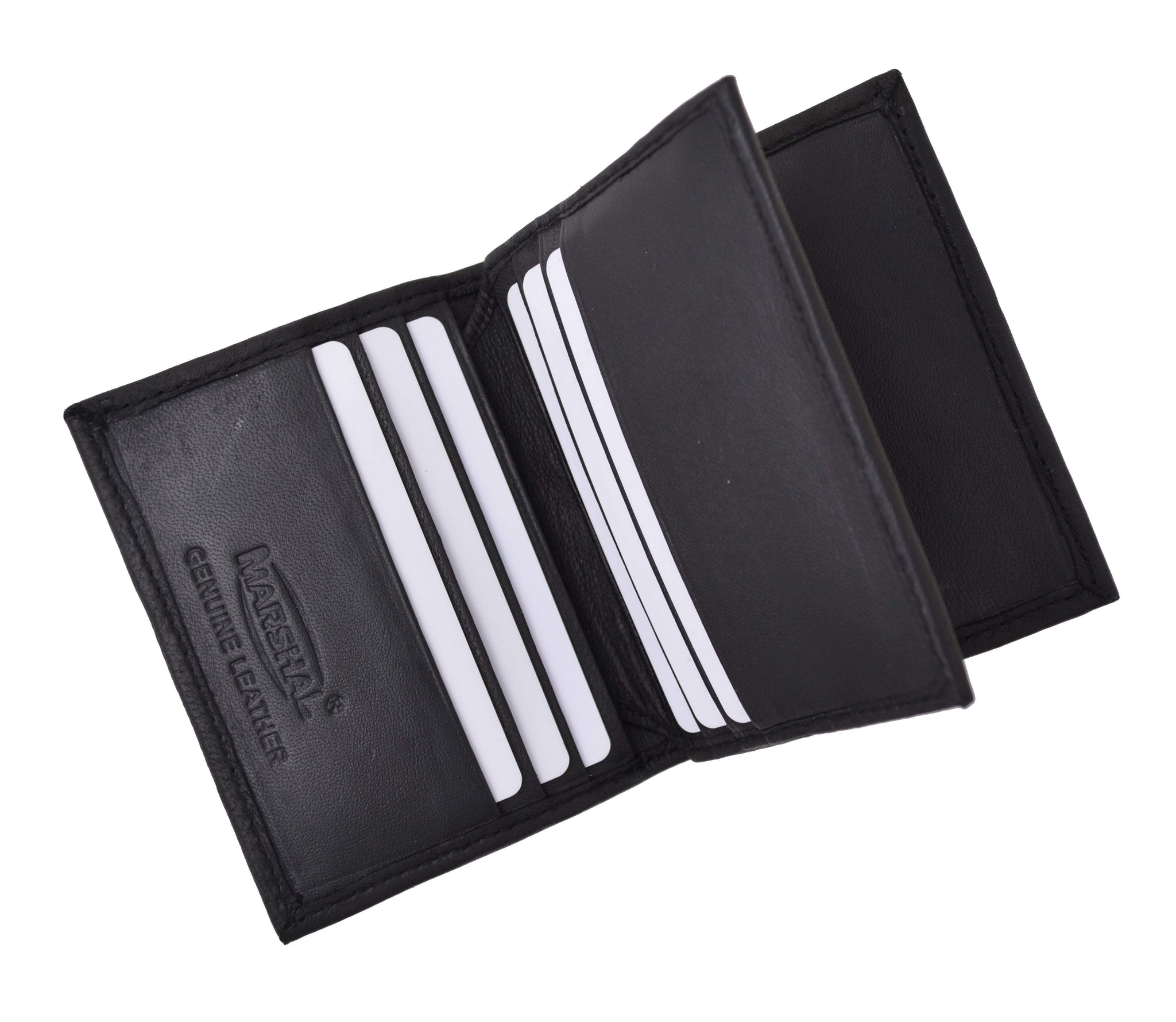 RFID Protection Premium Grey Leather Credit Card and ID Holder