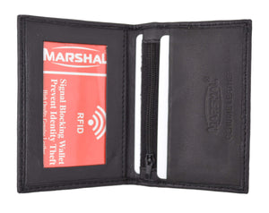Marshal Clothing, Shoes & Accessories RFID Blocking Slim Thin Premium Leather Credit Card ID Mini Wallet Holder Bifold RFIDP69