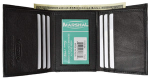 Marshal Clothing, Shoes & Accessories RFID Premium Leather Men's Trifold Card Holder ID Wallet RFID P 55 (C)