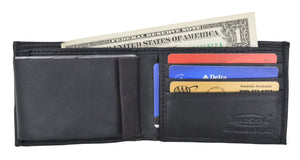 Marshal Clothing, Shoes & Accessories Swiss Marshal Soft Premium Leather Men's Bifold Wallet W/ Removable Leather Credit Card Case SM-P1154