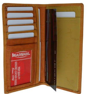 Marshal Clothing, Shoes & Accessories Tan Leather Checkbook Holder Credit Card ID Organizer 953 CF (C)