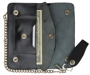 Marshal Clothing, Shoes & Accessories Trucker Genuine Leather Large Chain Wallet 646SM (C)