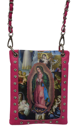 Marshal Clothing, Shoes & Accessories Turquoise Beautiful Our Lady of Guadalupe Women Cross Body Bags
