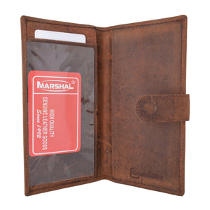 Vintage Genuine Leather RFID Blocking Simple Checkbook Cover with Snap Closure RFID157HTC - wallets for men's at mens wallet