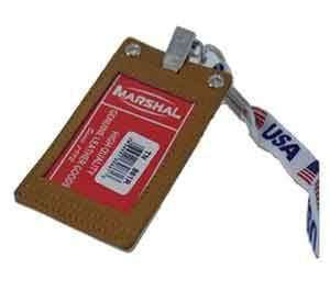 marshal Clothing, Shoes & Accessories WHITE LAN204F-USA/LEATHER NECK ID HOLDER