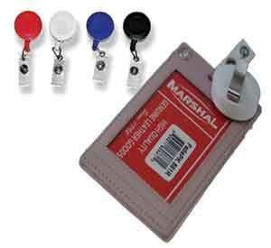 marshal Clothing, Shoes & Accessories WHITE LAN425Retractable-ID-HOLDER
