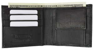 Marshalwallet Clothing, Shoes & Accessories Kid's Leather Bifold Wallet with Coin Pouch and Card Slots 925