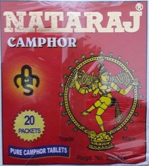 100% GENIUNE CRYSTALS CAMPHOR TABLETS CAMPHOR BLOCKS 20 Pack Natraj