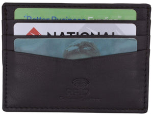Swiss Marshall Clothing, Shoes & Accessories Black Men's RFID Blocking Slim Thin Soft Genuine Leather Credit Card Case Holder Wallet by Swiss Marshall