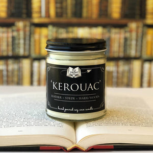 Kerouac Literary Glass Candle 9 oz
