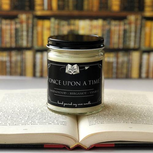 Once Upon A Time Literary Glass Candle 9 oz