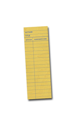 Yellow Library Card Bookmark: 2