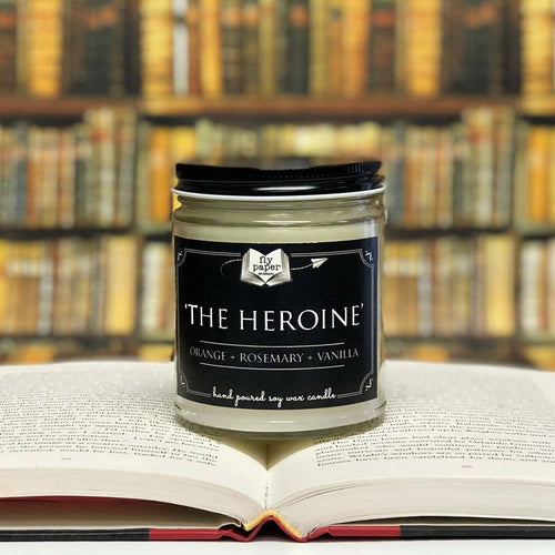 The Heroine Literary Glass Candle 9 oz